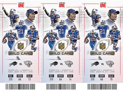 Buffalo Bills Playoff Ticket playoffs buffalo bills football ticket design sports design ticket sports