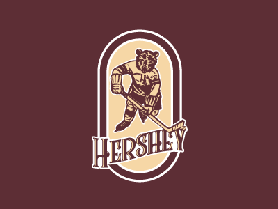 Hershey Bears Vintage Update Logo hershey branding logo sports hockey ahl
