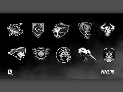 EA NHL 19 - 30 Create-A-Team Logos sports design logo design hockey logo redesign branding redesign sports graphic design freelancer ahl design branding design logo branding