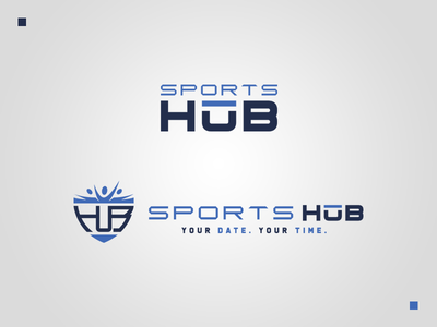 Sports HuB Secondary Logos redesign graphic freelancing sports design logo redesign logo design branding redesign sports graphic design freelancer design branding design logo branding