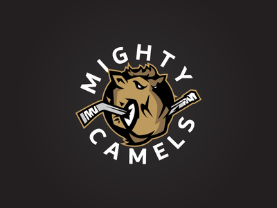 Dubai Mighty Camels Logo redesign graphic freelancing hockey sports design logo redesign logo design branding redesign sports graphic design freelancer design branding design logo branding
