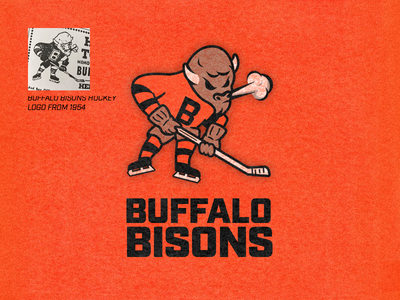 Buffalo Bisons Hockey Logo freelancer sports logo redesign illustration branding design design sports design sports throwback sports brand sports logo logo brand branding logo