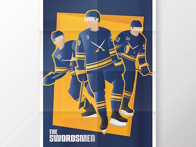 Swordsmen Poster sports sports design poster design design minimalist poster buffalo sabres buffalo sabres
