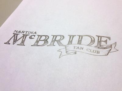 Martina Fan Club Illustrated Logo