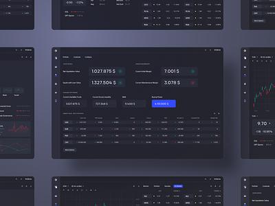 Trading Platform desktop dark app dark mode dark ui software design software crm traiding uidesign interface dashboard app userinterface minimal ui uiux concept design