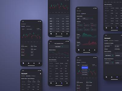 Trading Platform Mobile App    ios user uidesign interface app userinterface uiux ui design concept
