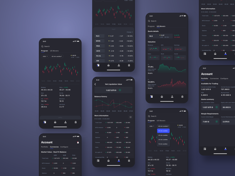 Trading Platform Mobile App || ios user uidesign interface app userinterface uiux ui design concept
