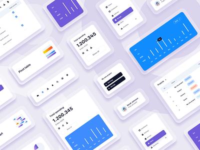 UI Components uikits concept branding ui design uikit dashboard interface app userinterface uiux ui