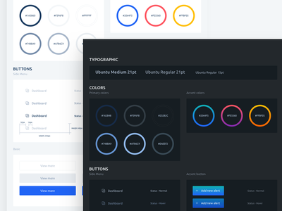 Light vs dark box dark light concept uielements colors dashboard app design uikit kit ui