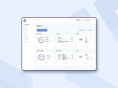 Concept - Control system ux logo branding crm graphicdesign flat design web user interface userinterface uiux uidesign dashboard app ui concept minimal