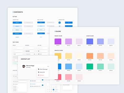 Design system web uidesign user designsystem color userinterface uiux dashboard ui concept design