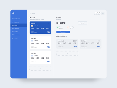 Online banking logo concept uiux userinterface character finance clean payment cards ui money transaction dashboad online banking online banking cards