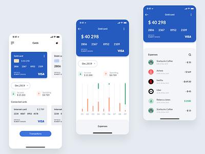 Online banking mobile user minimal interface uidesign app bank card bank app banking uiux ui concept design