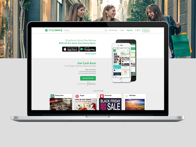 ShopSavvy Home Page Design