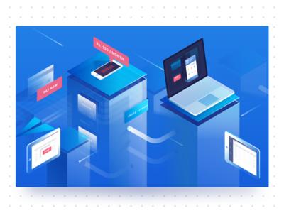 Rebranding Razorpay invoice branding rebranding system computers transaction payment isometric