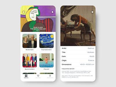 Museum & Exhibitions |  Art gallery app museum art artist minimal clean design app mobile art gallery