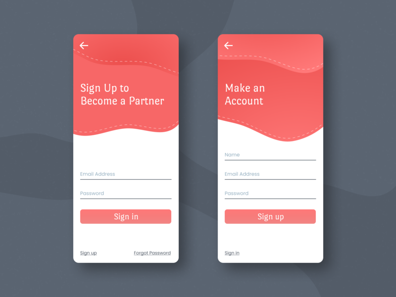 Sign Up Screen – Daily UI 001