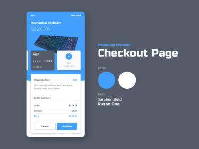 Check Out Screen – Daily UI 002
