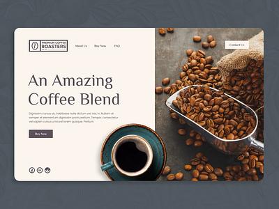 Coffee Landing Page - Daily UI 003 dailyui 003 dailylogochallenge 003 dailyui concept photoshop webdesign layout ux ui uidesign uiux landingpage coffee