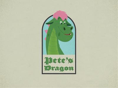 Pete's Dragon elliot movie illustration dragon classic 1977 petes dragon disney