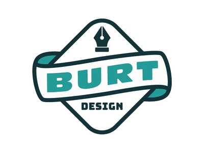 Burt Design Logo freelance pen icon branding logo