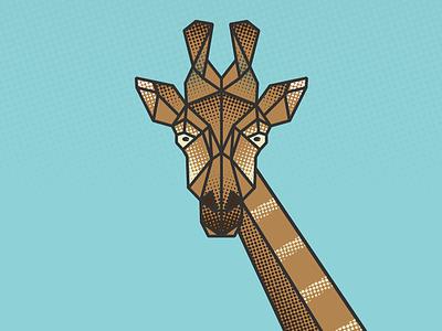 He's Looking at You geometric illustration giraffe