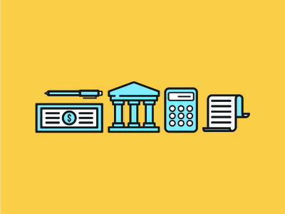 Tax & Accounting Icons texting accountant taxes icons illustrator