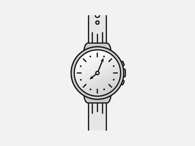 Watching the Time wrist grey illustrator gradient illustration time watch