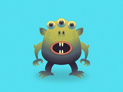 Friendly  Monster frendly gradients illustrator illustration monster