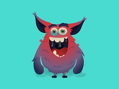 Friendly Monster 2 gradients illustrator illustration friendly monster