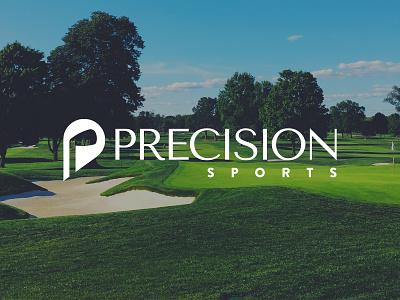 Precision Sports tee club golf vector icon illustration design branding logo