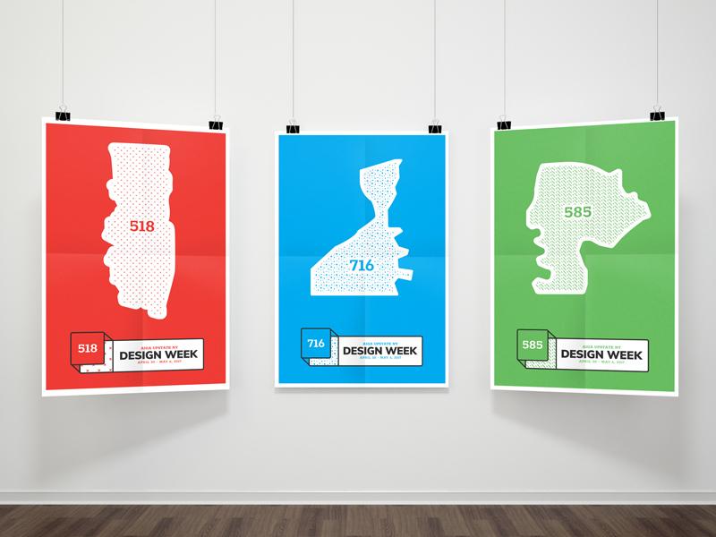 Design Week Posters map ny branding week design poster