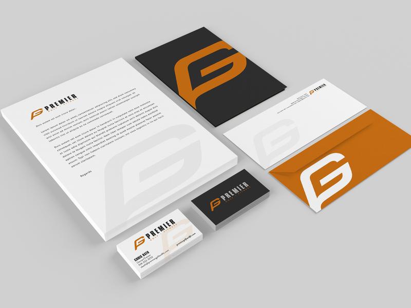 Premier Brand Identity Mockups golf icon illustration design branding logo