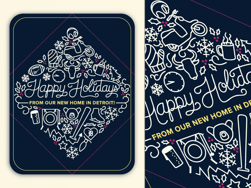 Holiday Card 2015 christmas holiday card winter icons typography card holiday