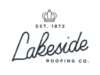 Elegant Lakeside Roofing Co. Logo