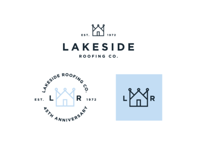 Perfect Lakeside Roofing Co. Logo Exploration 2