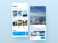 Travel Packages App travel ux ui learn ui user interface user experience app design travel app