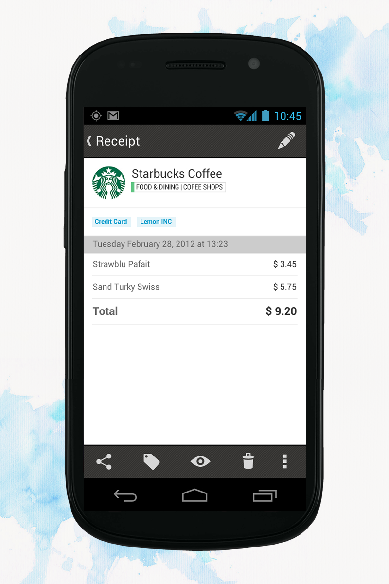 Android 03 receipt