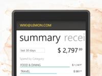 Lemon Receipts for Windows Phone