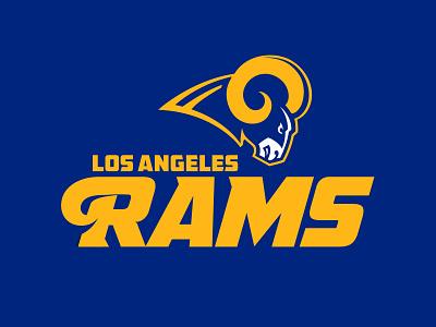 LA Rams rebrand concept los angeles rams illustration sports branding nfl nfl logo football la rams sports design rebrand sports logos sports logo logo