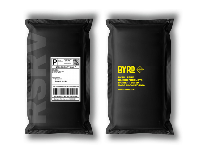 BYRD Hairdo Products Mailer ecommerce custom direct to consumer package mailer packaging