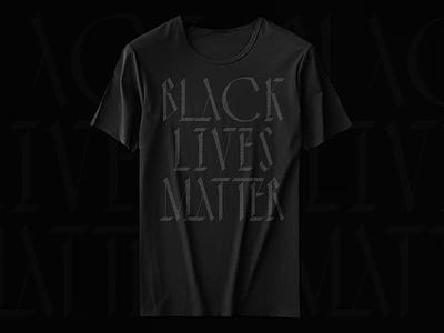 Black Lives matter tshirt art black and white apparel tshirt black lives matter type illustration design branding logo
