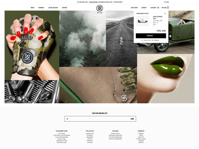 G/FORE GOLF fashion sports shopify ecommerce checkout page clean type gfore branding golf minimal ui website