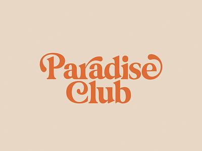 Paradise Club 70s script retro typography logo