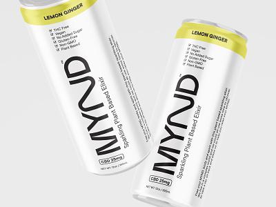 MYND Sparkling Elixer +CBD sparkling water weed cbd label design can logo branding packaging minimal cbd packaging beverage drink thc cbd