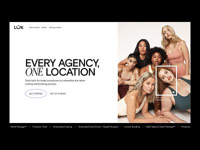 LÜK Network - Home Page landing page homepage website tech app fashion marketplace network creators photographers model agency branding ui models
