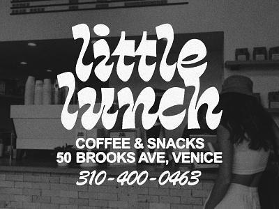 Little Lunch Coffee + Snacks trendy cafe typeography modern street branding logo tshirt design texture type shop coffee