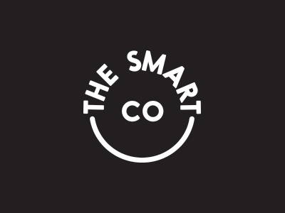 The Smart Co. smiley branding food identity logo