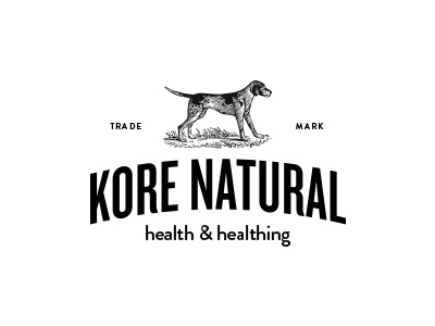 Kore vintage packaging dog pet branding identity logo