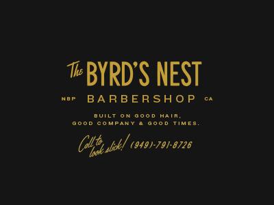 Byrdsnest 50s vintage barbershop design logo